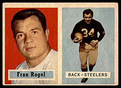 a833220ea89 1957 Topps   27 Fran Rogel Pittsburgh Steelers (Football Card) Dean s Cards  5 -