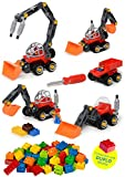 Construction Take Apart Tractor Toy & Build Your Own Tractor & Sand Truck screwdriver Included with 42 Piece Constructions Set Amazing toy for boys and girls (Duplo Compatible)