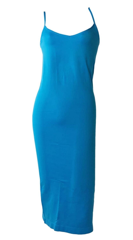 Franato Women's Seamless Spaghetti Straps Long Cami Full Slip Dress CA7673
