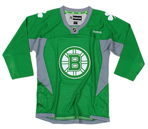 fan products of NHL Boston Bruins Youth Boys St. Patrick's Day Green Replica Jersey