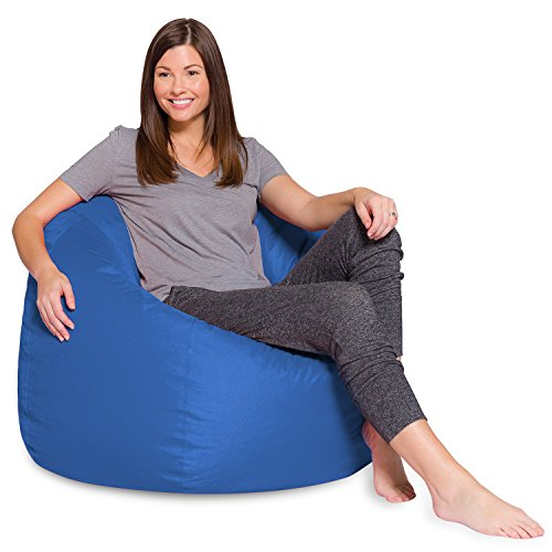 Big Comfy Bean Bag Chair: Posh Large Beanbag Chairs with Removable Cover for Kids, Teens and Adults - Polyester Cloth Puff Sack Lounger Furniture for All Ages - 35 Inch ()