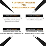 Eyebrow Tweezers Set 6 PCS, Professional Stainless