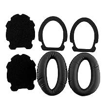 Cewaal Replacement Earpad Ear Pad Cushion for BOSE Aviation X A10 A20 Headphones 2pcs Black