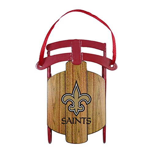 NFL New Orleans Saints Metal Sled Ornament