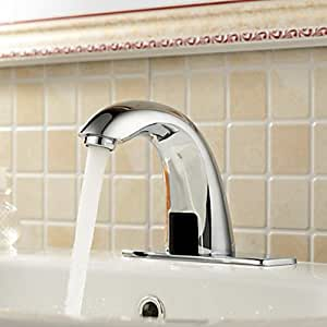 Hands Free No Touch Faucet Automatic Electronic Sensor Commercial Bathroom
