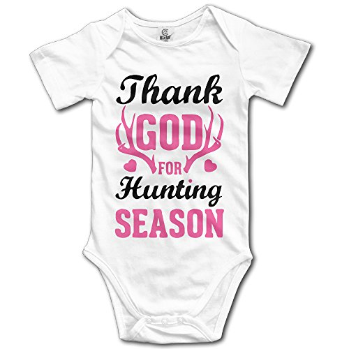 Thank God for Hunting Season Toddler Cute Baby Onesies Clothing White