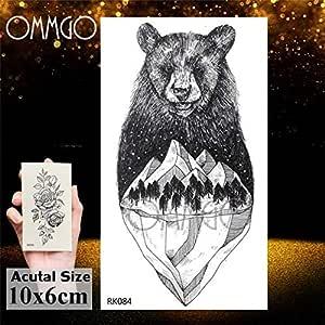 Leopardo 5Pcs- Bird Crow Vintage tatuaje para los hombres Bosque ...