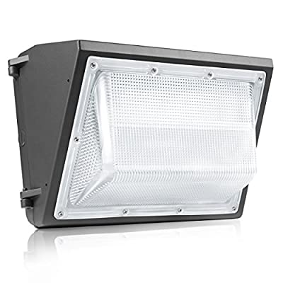 SHINE HAI LED Wall Pack Fixture, 80W (500-700 Watts HPS/HID Replacement), IP65, 5000K Daylight White 8000 Lumens Weatherproof and Outdoor Rated LED Flood Light