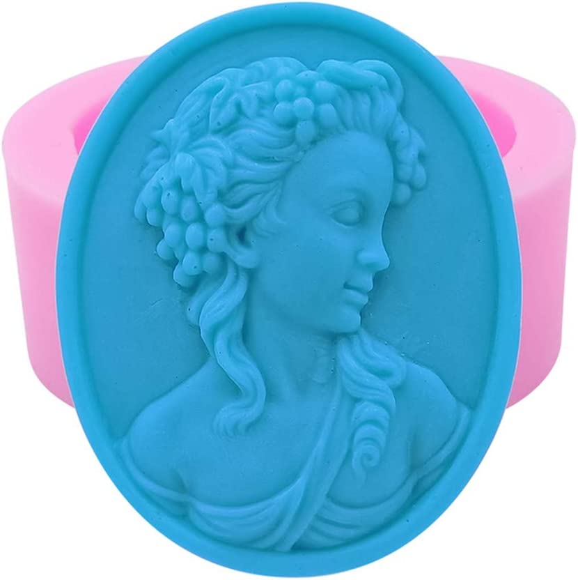 Great-Mold Queen Design Soap Mold 3D Silicone Mold for Soap Food Grade Chocolate Cake Fondant Molds Wax Mould