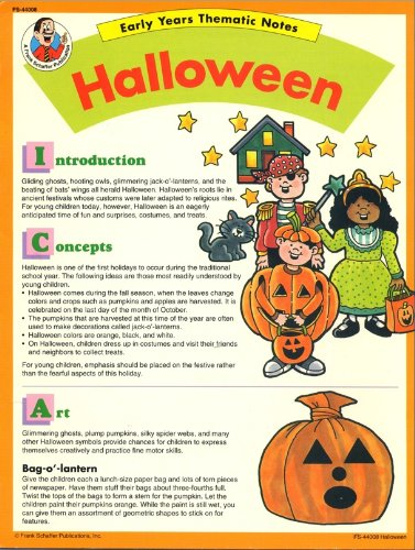 Halloween (Early years thematic notes) -