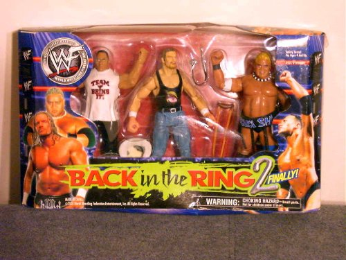WWF/WWE Back In The Ring 2 Action Figure Set - The Rock, HHH, Rikishi by Unknown