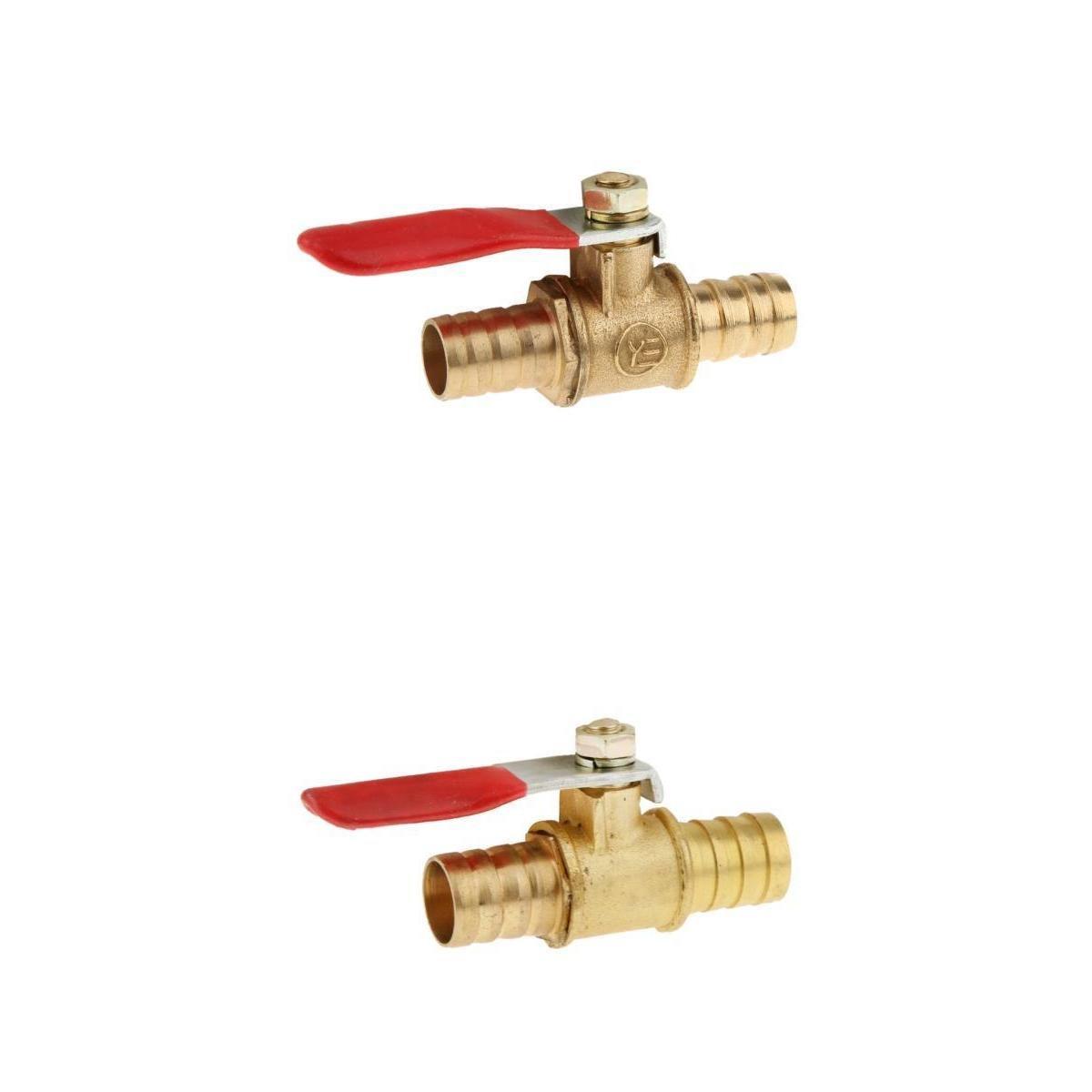 MagiDeal 1//4 V/álvula de Bola Grifo de Purga Interruptor L/íquidos Gas Aire de Drenaje Mango Rojo