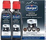 Durgol Swiss Espresso Machine Decalcifier/Descaler Solution, Set of 2