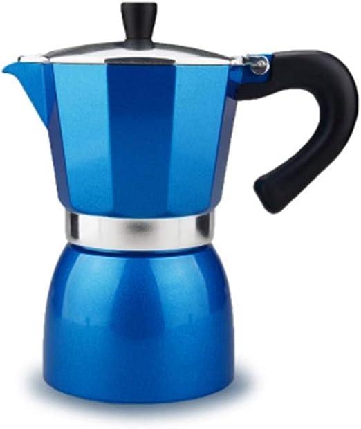 Cafetera eléctrica portátil de aluminio multicolor para cocina, café, moca, termo, filtro de café y taza para el hogar de la oficina: Amazon.es: Hogar
