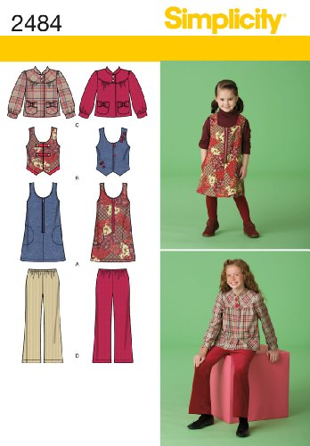 - Simplicity Sewing Pattern 2484 Child/Girl Seperates, K5 (7-8-10-12-14)