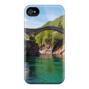 Excellent Design Beautiful Old Footbridge Phone Case For Iphone 4/4s Premium Tpu Case