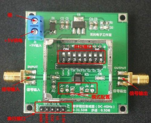 YalinGE PE4302 Digital RF Attenuator Module High Linearity 0.5dB Step 1MHz-4GHz 50ohm DSA