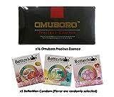 (16) Pack Omuboro Precious Essence Increase Libido Men Sex Enhancement Diatery Supplement + Free (5) Box BetterMan Anion Condom