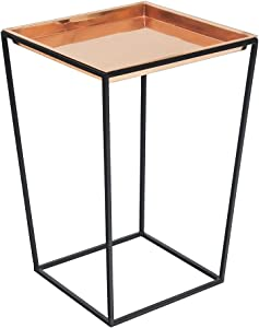 """Achla Designs Arne Plant Stand, 22"""" H with Copper Tray"""