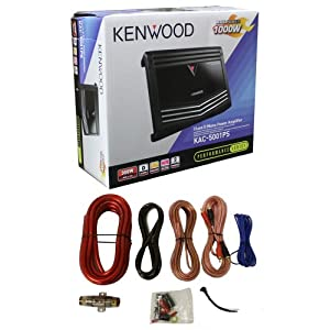 New Kenwood KAC-5001PS 1000W Mono D Car Amplifier Power Amp + 4 Gauge Amp Kit