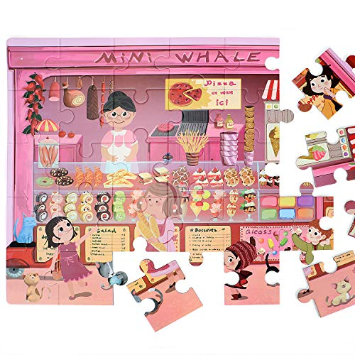 Kids Puzzles Jigsaw Puzzle Bakery Play Food Jumbo Floor Puzzle Educational Puzzle Gift for 2, 3, 4, 5, 6 Years Old Boys Girls Toddlers Children ()