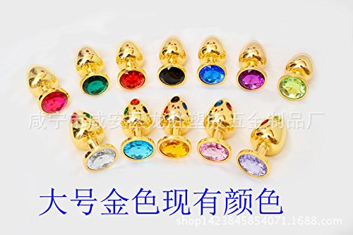 1pcs Factory wholesale gold stainless steel backyard anal plug anal toys golden metal anal plug anal plug size special offer