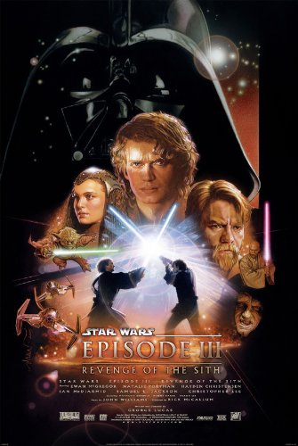 Movie Star Wars Posters Original (STAR WARS EPISODE III 3 REVENGE OF THE SITH MOVIE POSTER 2 Sided ORIGINAL FINAL 27x40)
