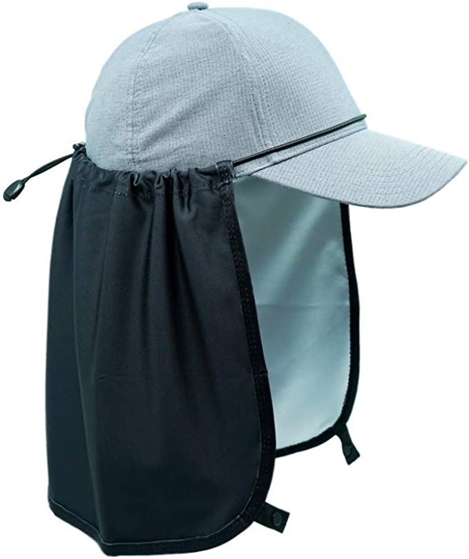 Sprigs Sun Protection Hat Shade Attachment with SPF 45 /& Cooling Fabric Khaki