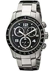 Tissot Mens T0394171105702 V 8 Stainless Steel Watch with Black Dial