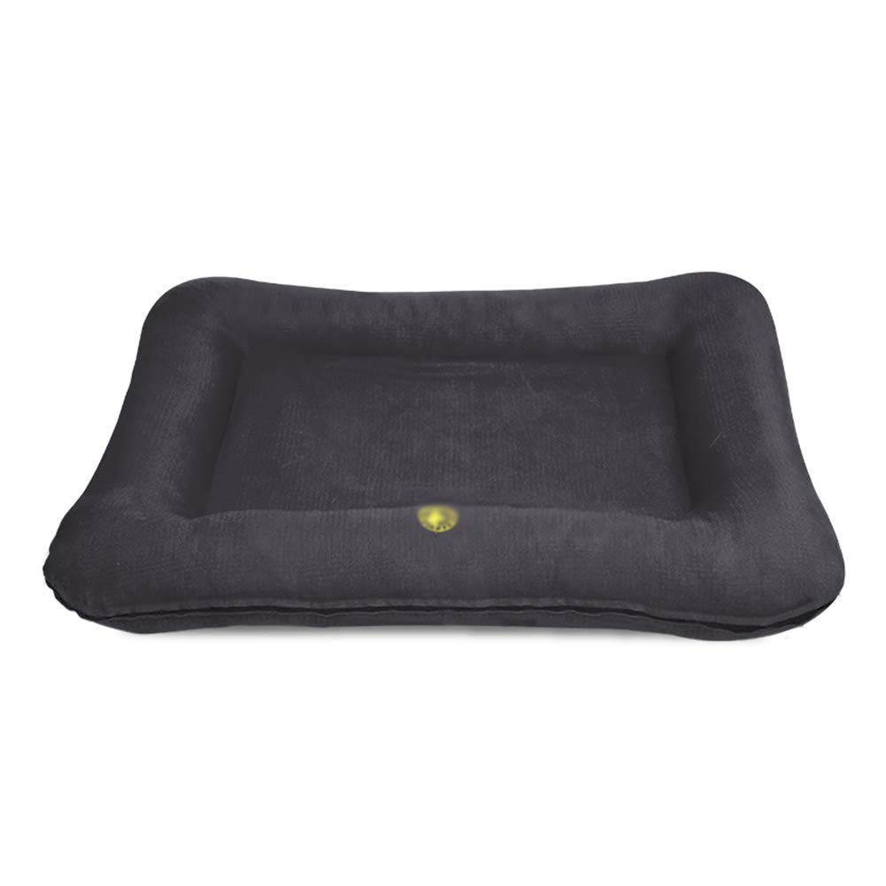 76×56×8cm ZXL Black Dog Bed, Removable Cover, Rectangular Pet Sofa, Soft and Warmth Memory Sponge, for Cat and Dog Cushion (Size   76×56×8cm)