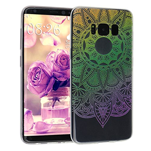 Galaxy S8 Case, Asnlove 5.8 pulgadas Carcasa TPU Silicona Bumper Shock-Absorción Slim Silicon Funda Trasera Back Cover Phone Shell Protector Funda Para Samsung Galaxy S8 Totem-9