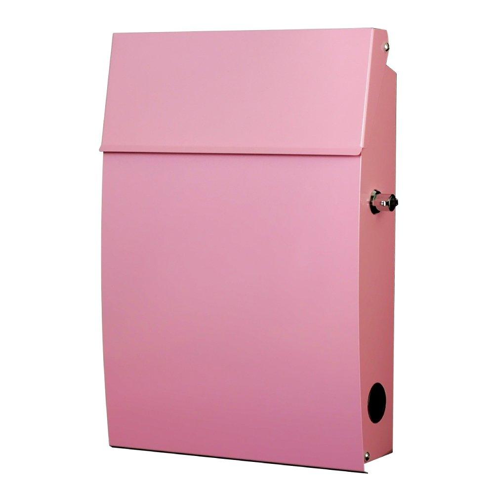 郵便ポスト 郵便受け メールボックス 壁掛け EUROデザイナーズポスト MB5805 レバー開閉タイプ 鍵付き ピンク MB5/05-KL-PINK 76 B01AN8ZJ86 15600 ピンク ピンク