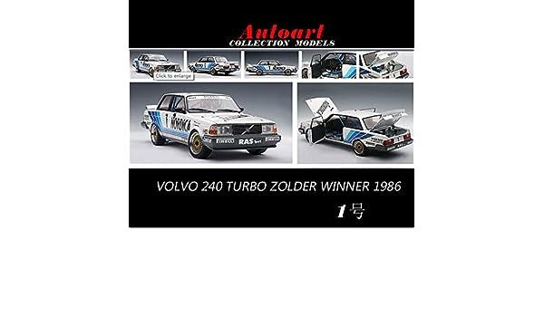 Amazon.com : 1:18 Volvo 240 TURBO ZOLDER Alto Volvo in 1986 1 racing cars : Baby
