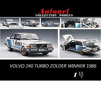 1:18 Volvo 240 TURBO ZOLDER Alto Volvo in 1986 1 racing cars