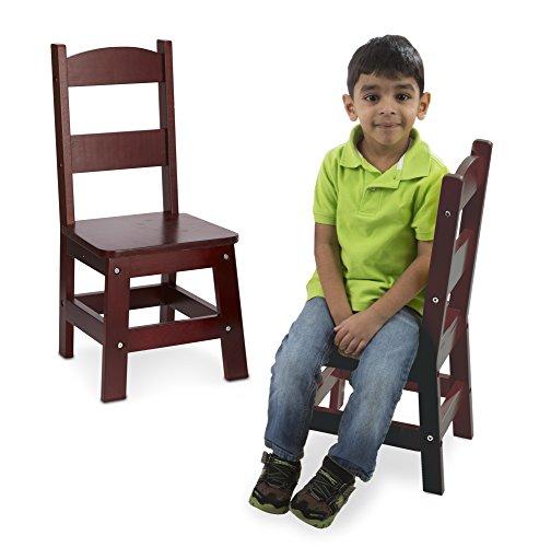 Melissa & Doug Wooden Chair Pair - Espresso Children's Furniture