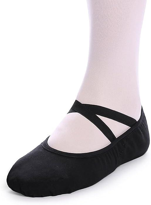 Amazon.com: Bezioner Zapatillas planas de ballet para niños ...