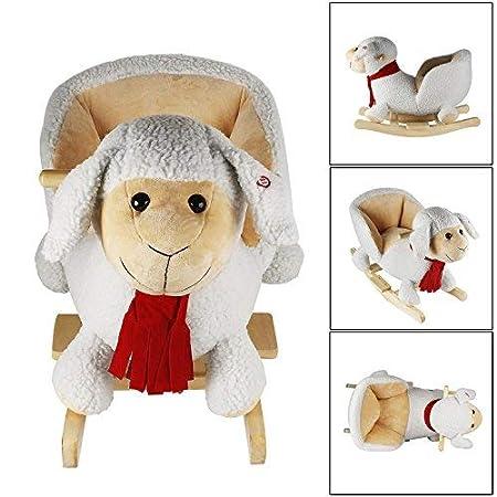 YiToo Moutons De Cheval /À Bascule Cheval /À Bascule B/éb/é avec Son Cheval /À Bascule Enfants Bascule Cheval /À Bascule en Peluche De 1 an