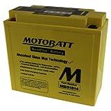 MotoBatt MB51814 (12V 22 Amp) 260CCA Factory Activated QuadFlex AGM Battery