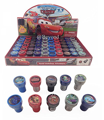 Disney Cars Self-Inking Stamps / Stampers Party Favors (10 Counts) by (Disney Cars Party Favors)