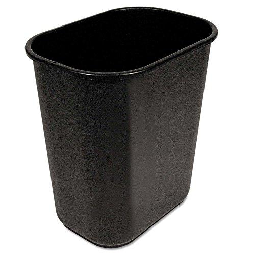S.P. Richards Company Rectangle Wastebasket, 28 Quart, 14-1/2 x 10-1/2 x 15 Inches, Black (SPR02160) (2, Rectangular) ()