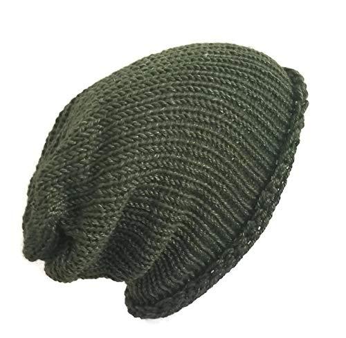 ca3635fe2a3 Amazon.com  Lightweight Handmade Olive Green Alpaca Slouchy Classic Plain  Beanie Hat  Handmade