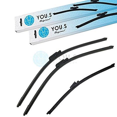 you.s 6q6955425a limpiaparabrisas set delantero + TRASERO 330+600+650mm (3