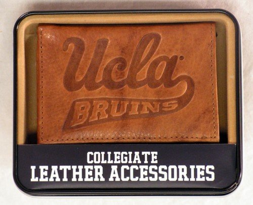 Rico Industries NCAA UCLA Bruins Embossed Leather Trifold Wallet, Tan
