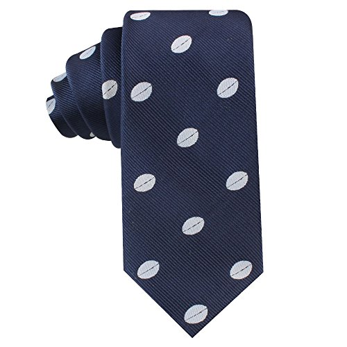 Rugby Fan Skinny Tie Mens Necktie | Rugby Union League | Work Ties for Him | Birthday Gift for Guys (Rugby) Big And Tall Rugby