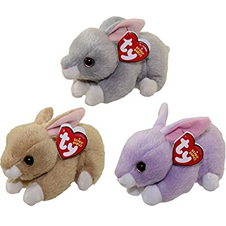Amazon.com  Ty 2016 Beanie Babies Easter Bunny set with Nibbler ... 1c23a41bba0