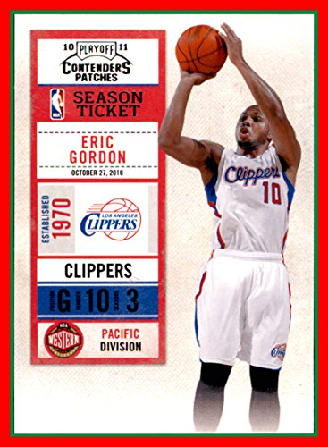 - 2010-11 Playoff Contenders Patches #7 Eric Gordon los angeles clippers (87d)