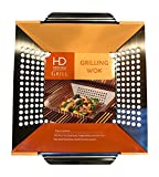 Stainless Steel Grilling Wok Basket - 12 x 12 Inches