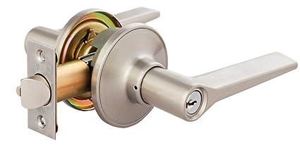 Yale Leverset Tubular Lock with 3 Keys (Satin Nickel, Standard Size)