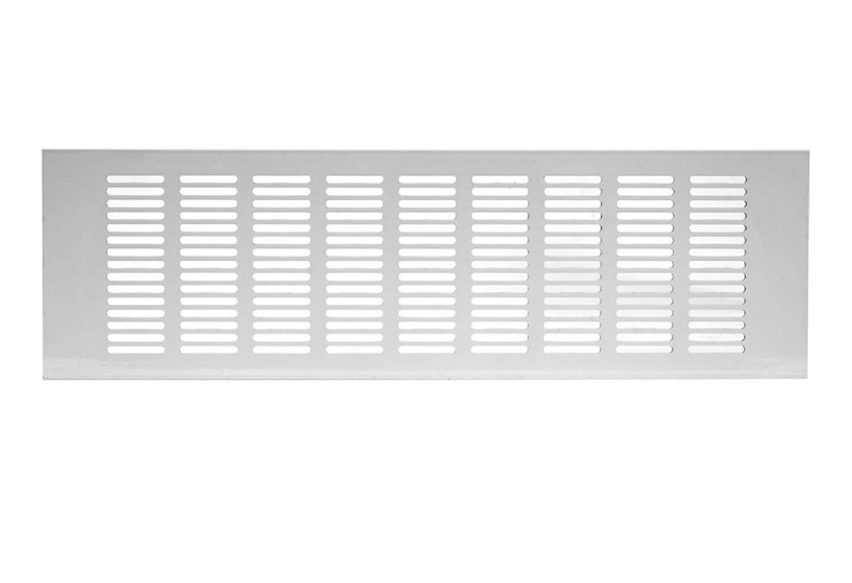Grille da/ération en aluminium Blanc 120 x 400 mm