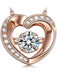 """""""Beautiful Love"""" ♥Valentines Day Gift♥ 925 Sterling Silver Rose Gold Plated Necklace Fine Jewelry [Luxury Jewelry Box]"""